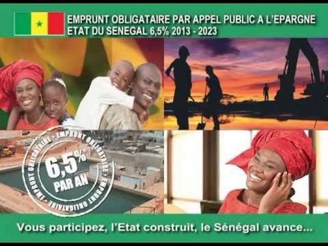 Le Sénégal paie 3,250 de millions aux titres d'intérêts d'emprunt obligataire