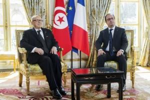 Béji Caïd Essebsi et francois hollande