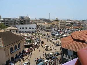 La ville d'Accra