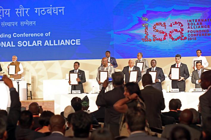 Lancement à New-Delhi de l'Alliance solaire internationale