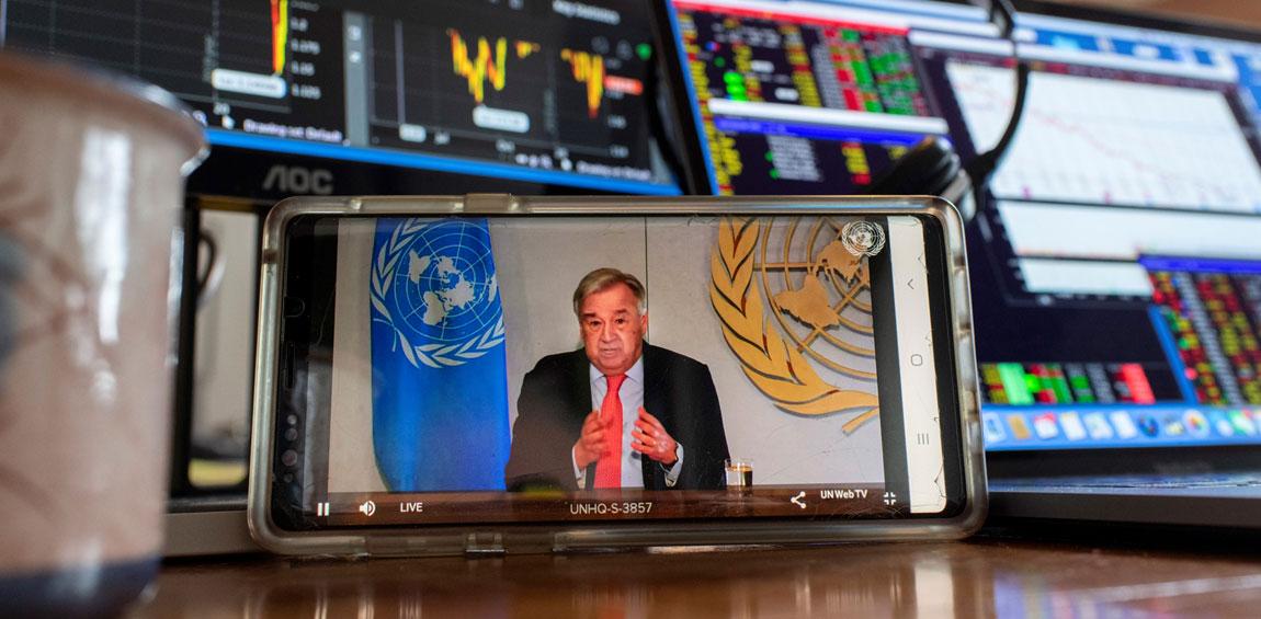 Covid-19 : Le S.G de l'ONU plaide pour un monde plus juste