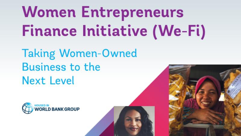 La Banque mondiale débloque 49,3 millions $ pour le financement des femmes entrepreneures (We-Fi)
