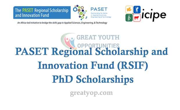 Le PASET offre des bourses d'études pour de jeunes chercheurs Africains