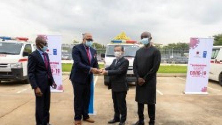 Le Japon et le PNUD font don d'ambulances au Nigeriapour sa lutte contre la Covid-19