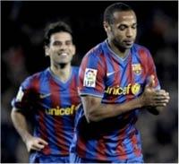 Le Barça écrase le Racing Santander