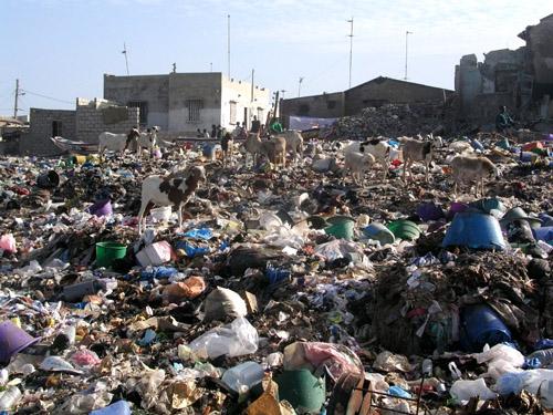 Mauritanie : Nouakchott  polluée par les ordures